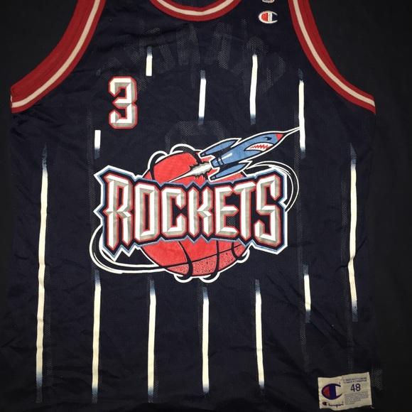 bba5c2fb7 Champion Other - Vintage Houston Rockets Jersey Steve Francis XL